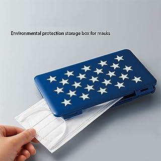 収納ボックス フェイスマスクケース、折り畳み式の収納袋使い捨てフェイスマスクマスク汚染防止(3パック)のためのオーガナイザーストレージボックス