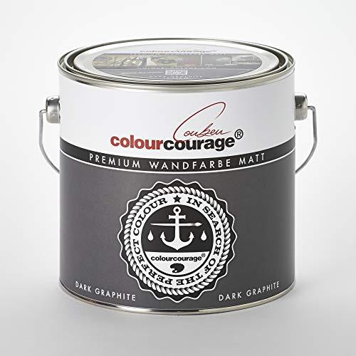 colourcourage® L709449575 Premium matt Dark Graphite 2,5L bunte Wandfarbe
