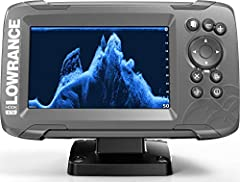 HOOK2 5 - 5-inch Fish Finder with TripleShot Transducer and US Inland Lake Maps Installed EASIEST TO USE: The Lowrance HOOK2 5 Fish Finder features auto-tuning sonar and phone-like menus giving you more time to spend fishing and less time dealing wit...