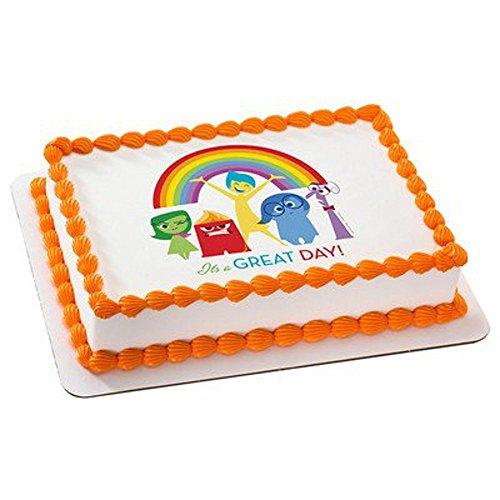 Whimsical Practicality Inside Out It's a Great Day Edible Icing Image for Cakes (1/4 Sheet)