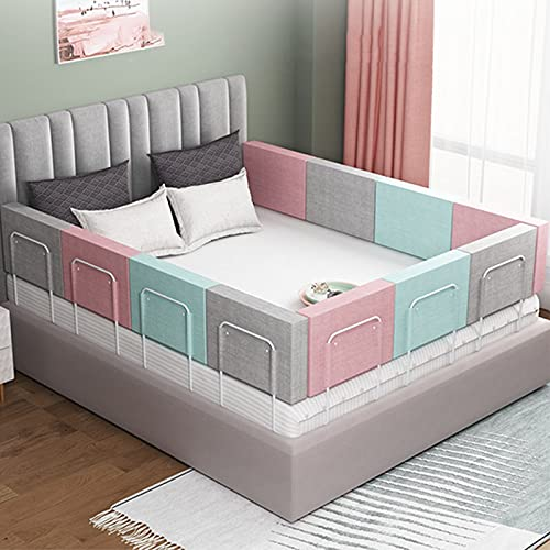 Barriera per letto bambini Sicurezza anticaduta Barriera letto bambini Portatile e stabile Sponde letto Proteggere Attentamente la Sicurezza del Sonno dei Bambini