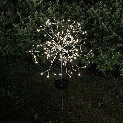 vijtian 120 LED Pusteblume Solarleuchte Blumengesteck Lampe Warmweiß Gurt Fernbedienung für Outdoor Hochzeit Garten Dekoration Rasen Dekoration Garten Garten Dekoration