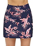 STYLEZONE Women's Skorts Pleated Cute Skirts Sports Shorts with Pocket for Running Tennis Golf Workout Leaves L