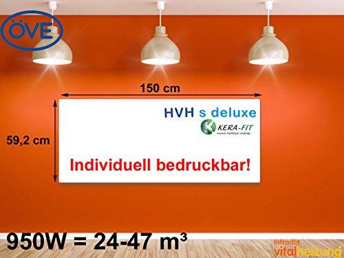950W Infrarotheizung, bedruckbares Heizpaneel, optimierte Heizleistung, 60x150cm, Vitalheizung HVH950 s-deluxe