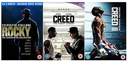 Rocky 1-8 Complete DVD Collection Rocky Legacy - Rocky / Rocky 2 / Rocky 3 / Rocky 4 / Rocky 5 / Rocky Balboa / Creed / Creed 2