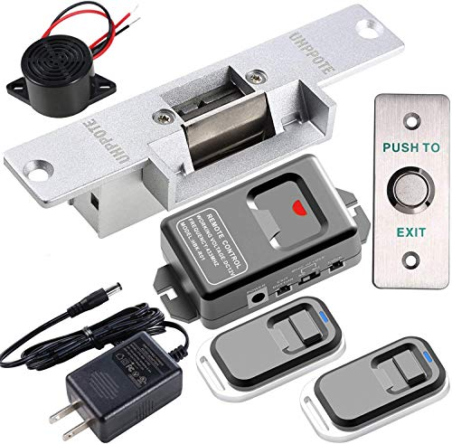 UHPPOTE Access Control Electric Strike Door Lock Fail-Secure Kit System with Remote Control