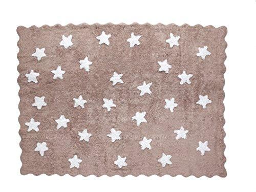 Aratextil Eden Tapis Enfant, Coton, Taupe, 120 x 160 cm