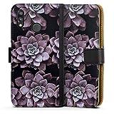 DeinDesign Étui Compatible avec Huawei P20 Lite Étui Folio Étui magnétique Violet Fleurs...