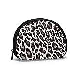 Leopardo Animal Print Mujeres Niñas Shell Cosmético Maquillaje Bolsa de Almacenamiento Monedas de Compras al Aire Libre Monedero Organizador