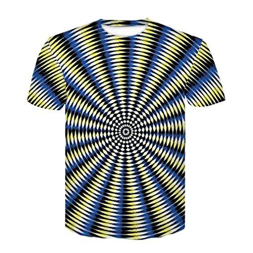 Camiseta para hombre con impresión en 3D y texto en inglés 'All Over Print' E L