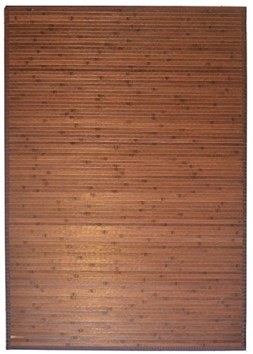 GinsonWare 3' X 5' Bamboo Floor Rug, Brown #89-001
