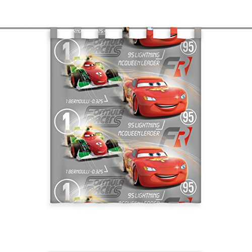Herding Vorhang Disney's Cars, Polyester, Mehrfarbig, 160 x 140 cm