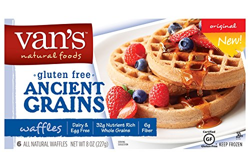 Van's Gluten Free Ancient Grains Original Waffles, 8 Ounce (Pack of 12)