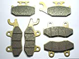 Master Chen Front Rear Brake Pads Brakes for Yamaha Rhino 660 YXR 660 2004-2007 / Raptor YFM 700 R 2006-2012 MC0004-001