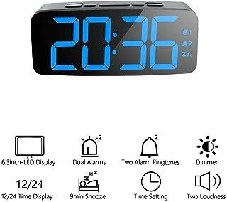 Vosarea LED Horloge Num/érique R/éveil Chambres Chevet Bureau Horloges Bureaux /À Domicile Voyage Gros Chiffres Affichage
