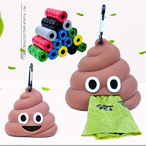 SHAOLIN 5 Rollen (75 Stück) + 1 kostenloser Müllspender, Hundehunde Holen Müllsäcke ab, Hundemist-Reinigungsbeutel, Haustierreinigungsmittel