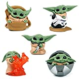 CYSJ 5 PCS Adornos de Star Wars Decoración de Pasteles,Star Wars Figura De Acción...