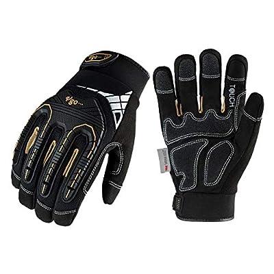 Vgo 1-Pair 32°F Waterproof High-Dexterity Heavy-Duty Winter Mechanic Gloves w/3M Thinsulate Lining, Impact & Vibration Reduction (Size XL, Black, SL8849FW)