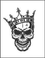 【FOX REPUBLIC】【王冠 をかぶった スカル】 白マット紙(フレーム無し)A3サイズ