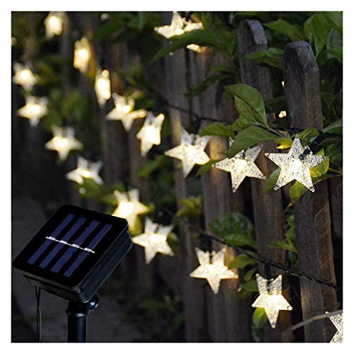XYACM Solar Light, Solar Chime Color Changing Outdoor Solar Garden Decorative Lights for Walkway Pathway Backyard Christmas Decoration Parties (Color : Yellow, Size : 7m)