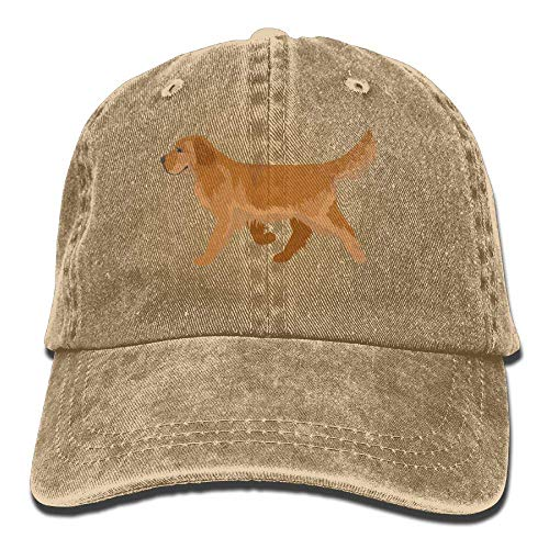 Cheeper Eletina Ds Golden Retriver Kostüm Süßer Golden Retriever Jeanshut verstellbar Unisex einfarbig Baseballkappe Golden Retriever Hats, Herren, Natur, Einheitsgröße