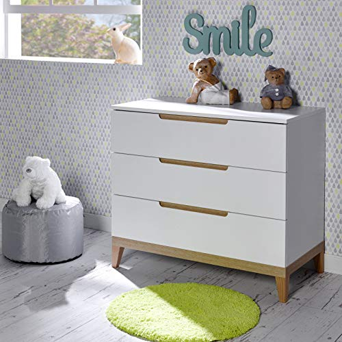 Alfred & Cie - Commode 3 tiroirs Siki Blanc
