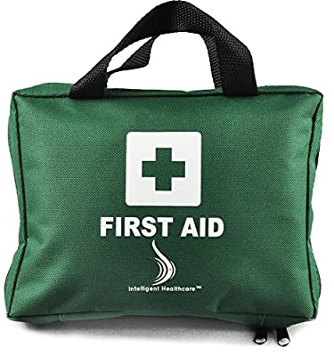 First Aid Kit 100 Piece Premium Kit Ideal for Camping, Home, Workplace, Office, Car, Caravan, Travel etc. 2 x Cold (Ice) Packs, Emergency Blanket, Eyewash and Many More by Intelligent Healthcare® from Intelligent Healthcare®