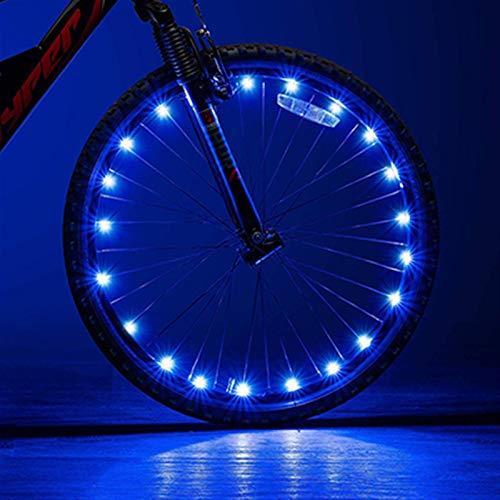 2m 20 LED Luces de Bicicleta LED Mountain Bike Wheel String Light Cycling Spofy Wheel Lámpara Accesorios para Bicicletas (Color : Blue)