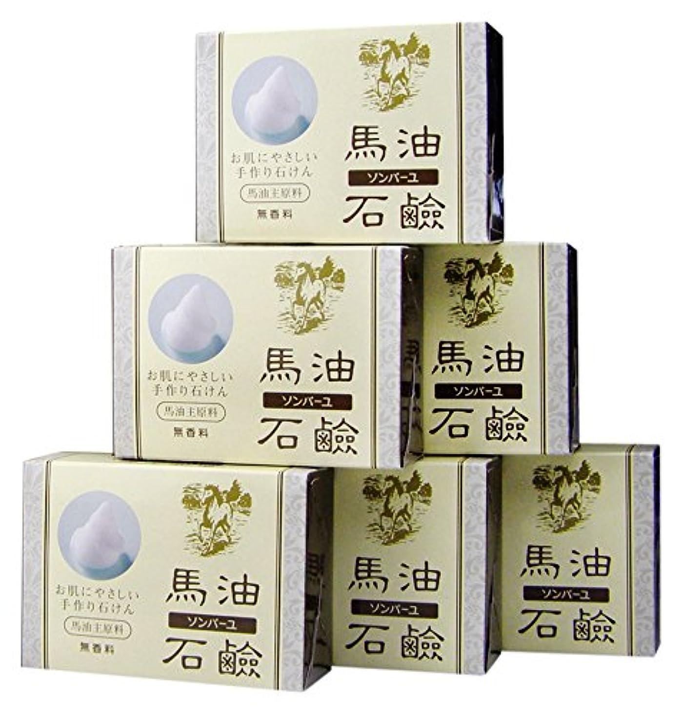 野生難破船早熟ソンバーユ馬油石鹸(無香料)6個入(85g×6)