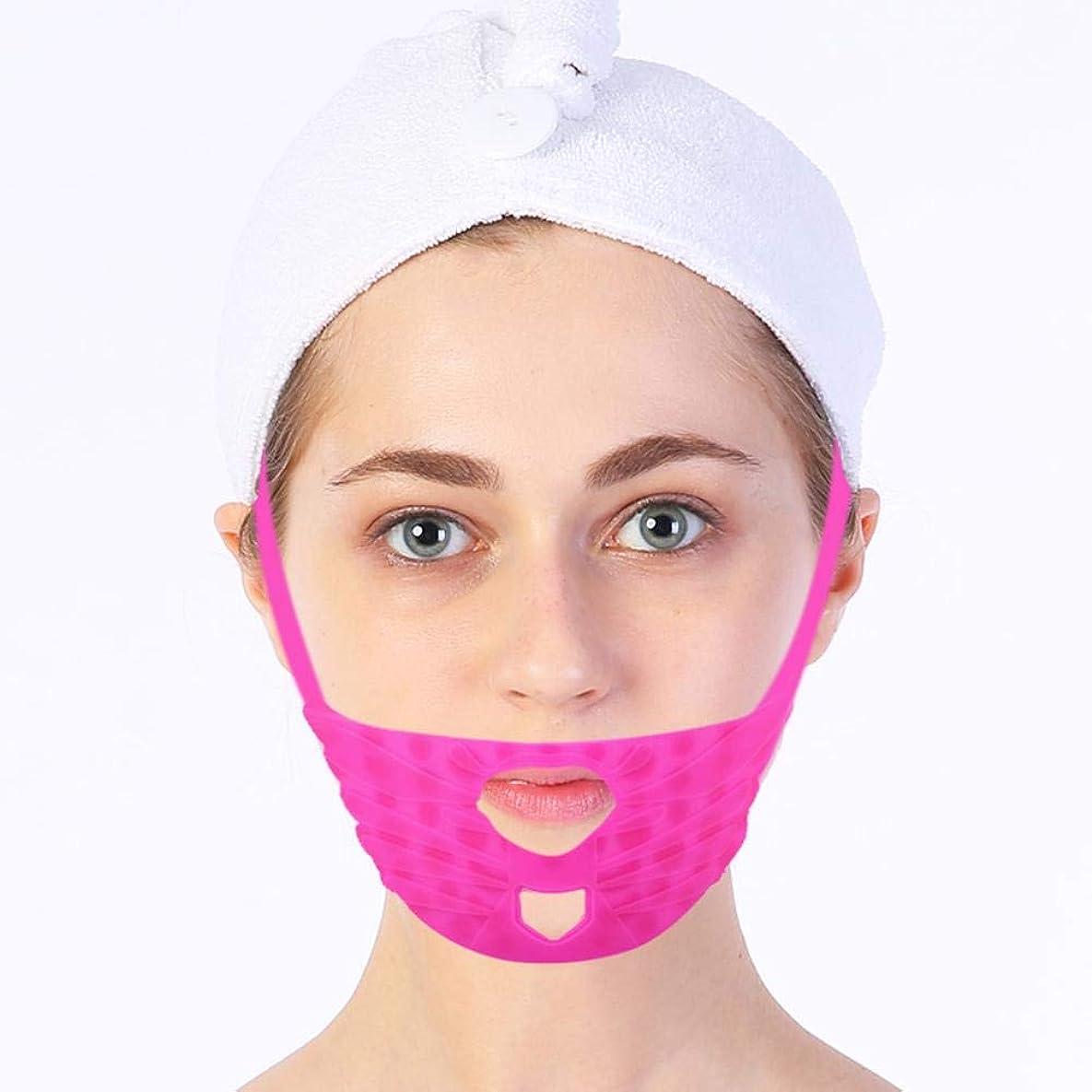 ワイプニッケルスプーンSemmeフェイシャルリフティング引き締め痩身マスク、マッサージフェイスシリコン包帯Vラインマスク首の圧縮二重あご、変更ダブルチェーンマスク引き締まった肌を減らす