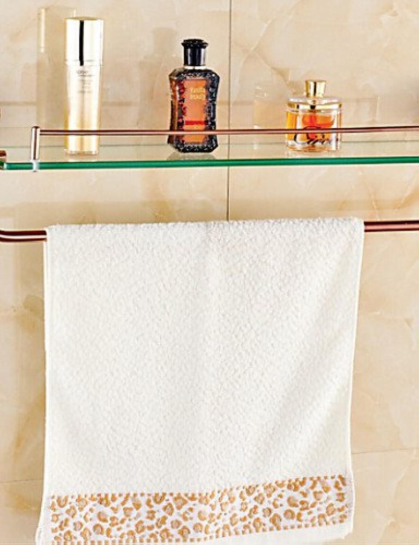 WYMBS Bathroom Shelves,pink gold Wall Mounted Glass Shelf,Bathroom Accessory