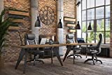 SONGMICS Ergonomischer Bürostuhl, höhenverstellbarer Drehstuhl, robust, stabil und langlebig, schwarz, OBG21B - 10
