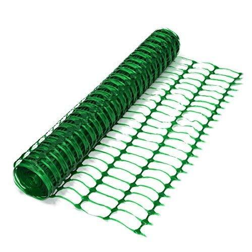 True Products B1001F aufgerollter Absperrzaun aus Kunststoff, 50 m, grün