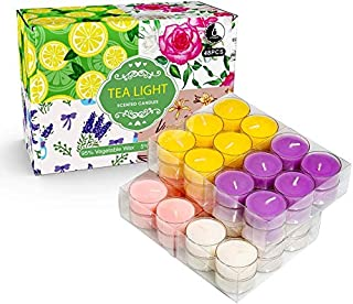 YINUO LIGHT Tea Lights Candles - 48 Bulk Candles Pack - Natural soy wax Tea Light Candles - More Than 4 Hour Burn Time