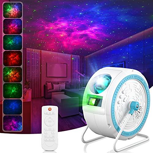 Sternenhimmel Projektor, LED Galaxy Projector Light mit Fernbedienung, 16 Modi Nachtlicht Sterne Projektor Lamp für Baby, Erwachsene, Schlafzimmer, Heimkino, Raumdekoration, Party, Nachtlicht Ambiente