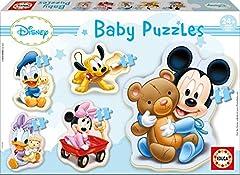 Educa- Baby Mickey Mouse 5 Puzzles Orogresivos de 3 a 5 Piezas, Multicolor (13813)
