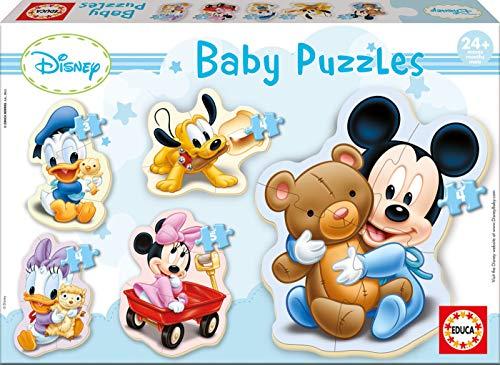 Educa - Baby Mickey Mouse 5 Puzzles Orogresivos de 3 a 5 Pie