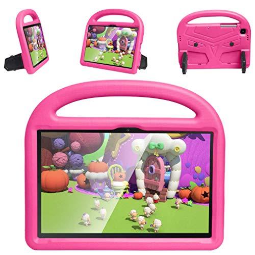RXLLSY Funda para niños Samsung Galaxy Tab A7 10,4'(2020) Funda SM-T500 / SM-T505, Funda Ligera para Tableta con asa con Soporte,Rose