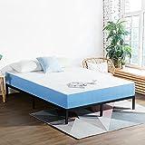 Olee Sleep 7 Inch Ventilated Gel Infused Memory Foam Mattress, CertiPUR-US Certified, Blue, Full
