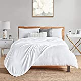 """Walensee Fleece Blanket Plush Throw Fuzzy Lightweight (Queen Size 90""""x90"""" White) Super Soft Microfiber Flannel Blankets for Couch, Bed, Sofa Ultra Luxurious Warm and Cozy for All Seasons"""