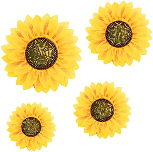 4Pcs Removable Wall Decals 3D Sunflower Wall Sticker Wall Art Home Decor Sunflowers Wall Stickers product image