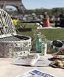 RVTYR Picknickkorb mit Deckel Geschirr Glasschale for 4 Personen Idyllisches Outdoor-Camping-Lieferungen Picknick Koffer Picknick-Set Picknick Korb (Size : Halbkreis Picknick Blau)