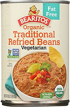 Bearitos Organic Fat-Free Traditional Refried Beans 16 oz  Pack of 12