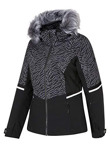 Ziener Toyah Lady Ski Snowboard-jas, ademend, waterdicht, zebra print, 34