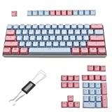 WHYSP 61 87 104 Miami PBT Keycaps 60 Percent, OEM Profile Thick Ducky Keycap Set for Cherry MX Switches 61/87/104 Mechanical Gaming Keyboard GH60 RK61 ALT61/Annie Poker GK61 GK64