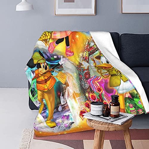 Disney Characters - Manta de forro polar de franela súper suave, grande, mullida y cálida para sofá de cama, 125 x 150 cm