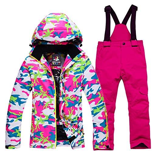Kinder Schneeanzug Snowboard-Sets Wasserdicht Winter Outdoor-Sportbekleidung Skijacke und Träger Schneehose Jungen Mädchen Kostüm