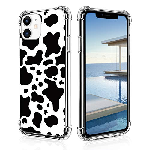 Cow Print Phone Case for iPhone 11,11 Pro,11 Pro Max, iPhone X, XR, iPhone 7/8,7/8 Plus Soft TPU Back Shockproof Protective Basic Case Cover
