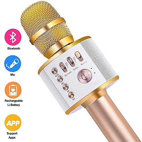 Draadloze karaokemicrofoon - 3 in 1 Handheld draagbare karaokespeler Ingebouwde Bluetooth-luidspreker Machine KTV-speler voor thuis, voor zingen/opnemen/feesten