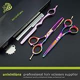 Univinlions 5.5'Professional Hair Ciseaux Ciseaux De Coiffeur Barber Razor Shears Ciseaux Coiffure Ciseaux De Coiffure À Vendre Tijeras (2Pcs Set)